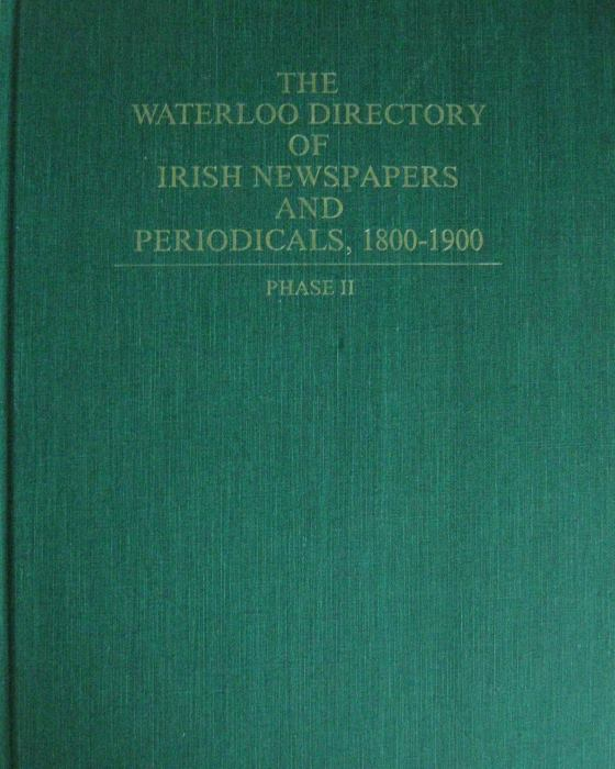 Directory of Irish Newspapers and Periodicals, 1800-1900