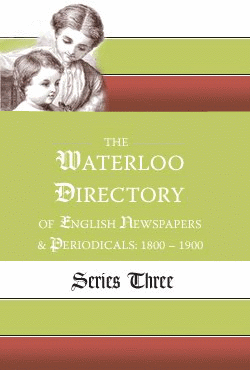 English Newspapers and Periodicals 1800-1900